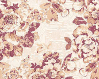A.S. Création Wallpaper «Flowers, Bronze, Brown, Metallic, Red» 338645