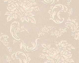 A.S. Création Wallpaper «Flowers, Beige, Cream, Metallic, Silver» 338676