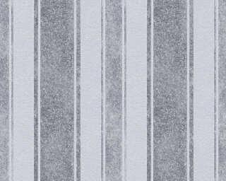 Jette Wallpaper «Stripes, Blue, Grey, Metallic» 339251