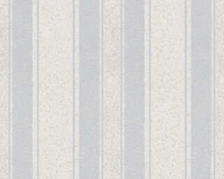 Jette Wallpaper «Stripes, Blue, Grey, Metallic» 339252