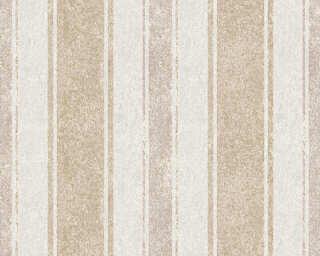 Jette Wallpaper «Stripes, Beige, Brown, Gold, Metallic» 339254