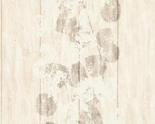 Brigitte Home Wallpaper «Wood, Beige, Brown, Metallic» 339263