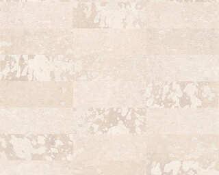 Private Walls Обои «Под плитку, Бежевые, Металлик» 340622