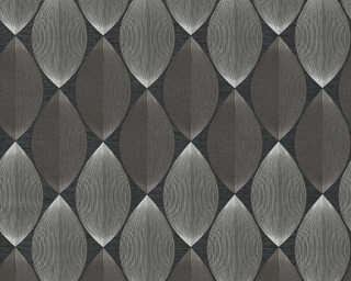 A.S. Création Wallpaper «Graphics, Black, Grey» 340671