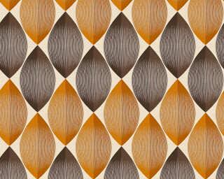 A.S. Création papier peint «Graphique, beige, marron, orange» 340673