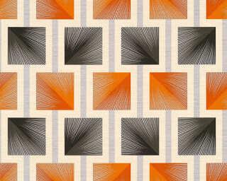 A.S. Création Wallpaper «Graphics, Black, Metallic, Orange» 340682