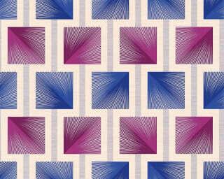 A.S. Création papier peint «Graphique, beige, bleu, violet» 340683