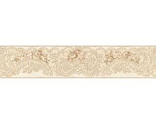 KIND OF WHITE Бордюр «Флора, Бежевые, Коричневыe, Металлик» 340744
