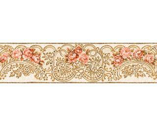 KIND OF WHITE Border «Floral, Beige, Gold, Metallic, Red» 340745