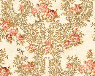 KIND OF WHITE Tapete «Blumen, Beige, Gold, Metallics, Rot» 340755