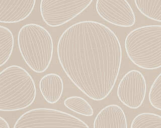 Colourcourage® Premium Wallpaper by Lars Contzen Tapete «Grafik, Beige, Weiß» 341221