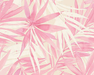 A.S. Création Wallpaper «Jungle, Beige, Pink, White» 341253