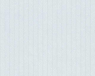 A.S. Création Wallpaper «Stripes, Blue, Metallic, White» 341341
