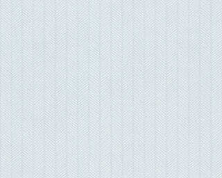 A.S. Création papier peint «Rayures, blanc, bleu, métallique» 341341