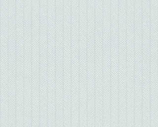 A.S. Création papier peint «Rayures, blanc, métallique, turquoise, vert» 341342
