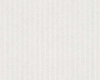 A.S. Création Wallpaper «Stripes, Grey, Metallic, Silver, White» 341344