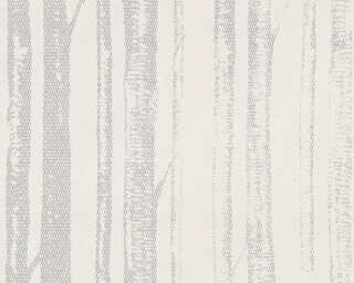 A.S. Création Wallpaper «Cottage, Grey, Metallic, Silver, White» 341352