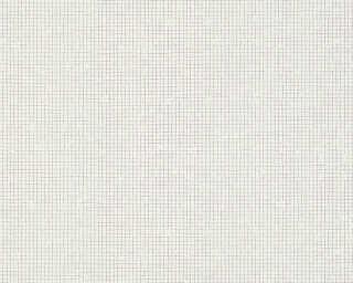A.S. Création Wallpaper «Uni, Black, Metallic, White» 341361