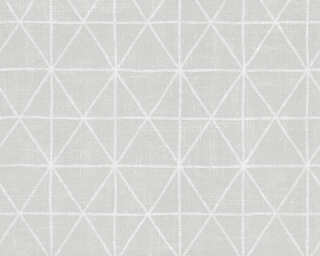A.S. Création Wallpaper «Graphics, Grey, Metallic, White» 341378