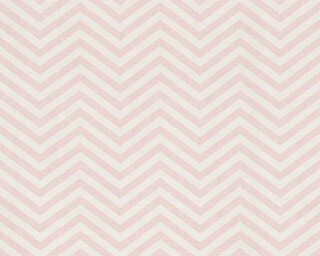 A.S. Création Wallpaper «Graphics, Metallic, Pink, White» 341392