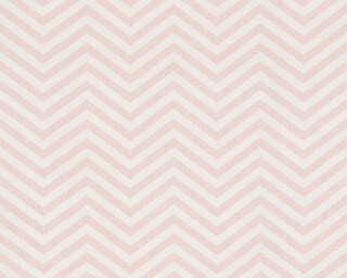 A.S. Création Обои «Графика, Белые, Металлик, Розовые» 341392
