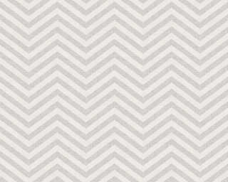 A.S. Création Wallpaper «Graphics, Grey, Metallic, White» 341393