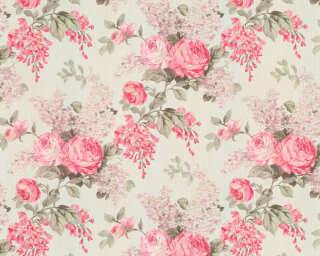ORIGINALS Wallpaper «Floral, Cream, Metallic, Pink» 341483