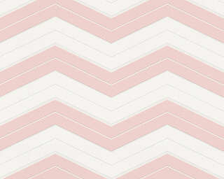 A.S. Création Wallpaper «Graphics, Pink, White» 342422