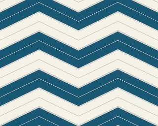 A.S. Création Обои «Графика, Белые, Металлик, Синие» 342424