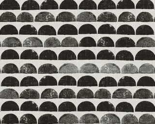 A.S. Création Wallpaper «Graphics, Black, Cream, Metallic» 342442