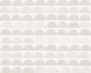 A.S. Création Wallpaper «Graphics, Cream, Grey» 342443