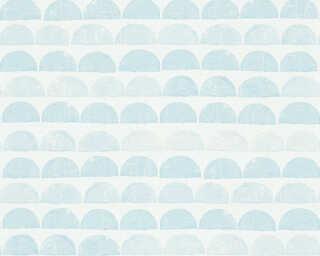A.S. Création papier peint «Graphique, bleu, métallique» 342444