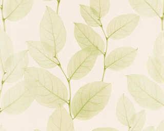 A.S. Création papier peint «Floral, beige, métallique, vert» 342474