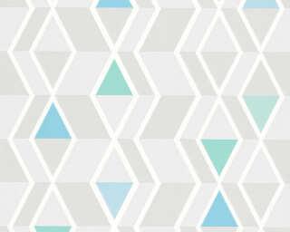 A.S. Création Tapete «Grafik, Blau, Grau, Grün» 343021