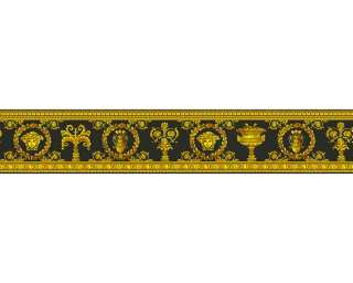 Versace Home Border «Baroque, Floral, Black, Gold, Metallic, Yellow» 343051