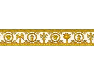 Versace Home Border «Baroque, Floral, Gold, Metallic, Orange, Yellow» 343052