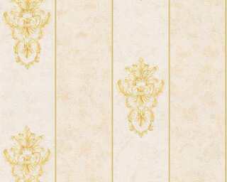 Architects Paper Wallpaper «Stripes, Beige, Gold, Metallic, Yellow» 343711