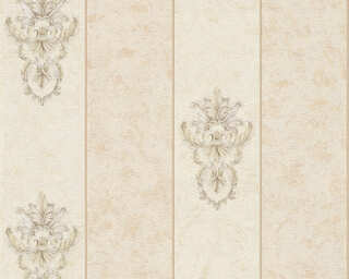 Architects Paper Wallpaper «Stripes, Beige, Grey, Metallic» 343713