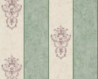 Architects Paper Wallpaper «Stripes, Beige, Green, Metallic» 343715