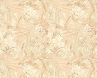 A.S. Création Wallpaper «Flowers, Beige, Cream, Gold, Metallic» 343794