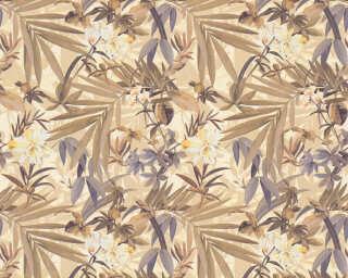 A.S. Création Wallpaper «Flowers, Brown, Cream, Gold, Metallic» 343795