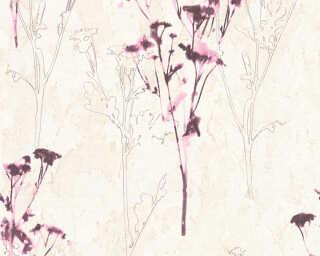 A.S. Création Tapete «Blumen, Beige, Braun, Violett» 343982