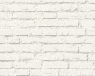 A.S. Création Wallpaper «Stone, Grey, White» 343992