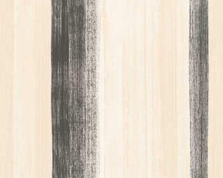 A.S. Création papier peint «Rayures, beige, crème, noir» 344504