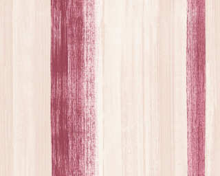 A.S. Création Wallpaper «Stripes, Beige, Red» 344505