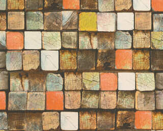 A.S. Création флизелин «Под дерево, Разноцветные» 344521