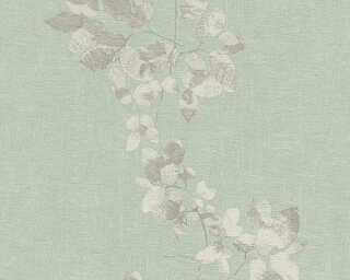 Daniel Hechter Wallpaper «Cottage, Floral, Green, Grey» 344951