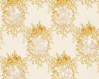 A.S. Création papier peint «Maison, Fleurs, beige, métallique, or» 344993