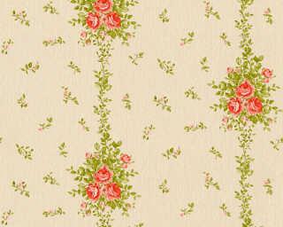 A.S. Création Обои «Деревенский стиль, Цветы, Бежевые, Зеленые, Красные» 345001
