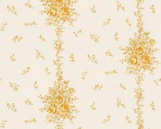 A.S. Création papier peint «Maison, Fleurs, beige, crème, métallique, or» 345003
